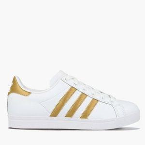 Kid's 12.5 Metallic Gold Adidas Sneakers